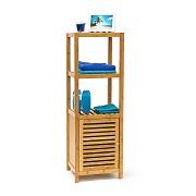la colonne étagère bois et bambou RELAXDAYS