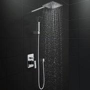 l ensemble douche effet pluie aqua marin petite salle de bain. Black Bedroom Furniture Sets. Home Design Ideas