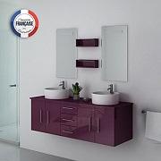 Meuble de salle de bain aubergine - les 8 plus beaux - Petite salle ...