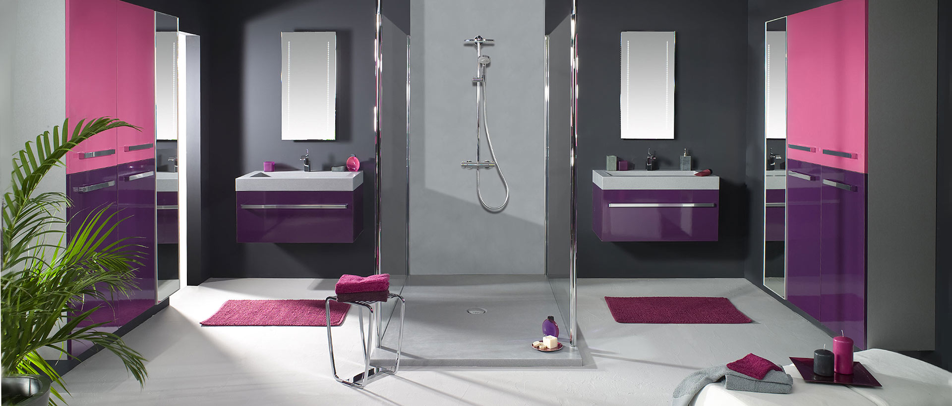 meuble de salle de bain aubergine les 8 plus beaux. Black Bedroom Furniture Sets. Home Design Ideas