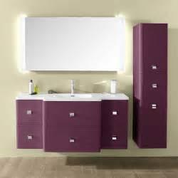 Meuble de salle de bain aubergine les 8 plus beaux - Meuble salle de bain violet ...