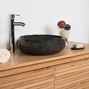 Vasque salle de bain à poser en marbre VENISE