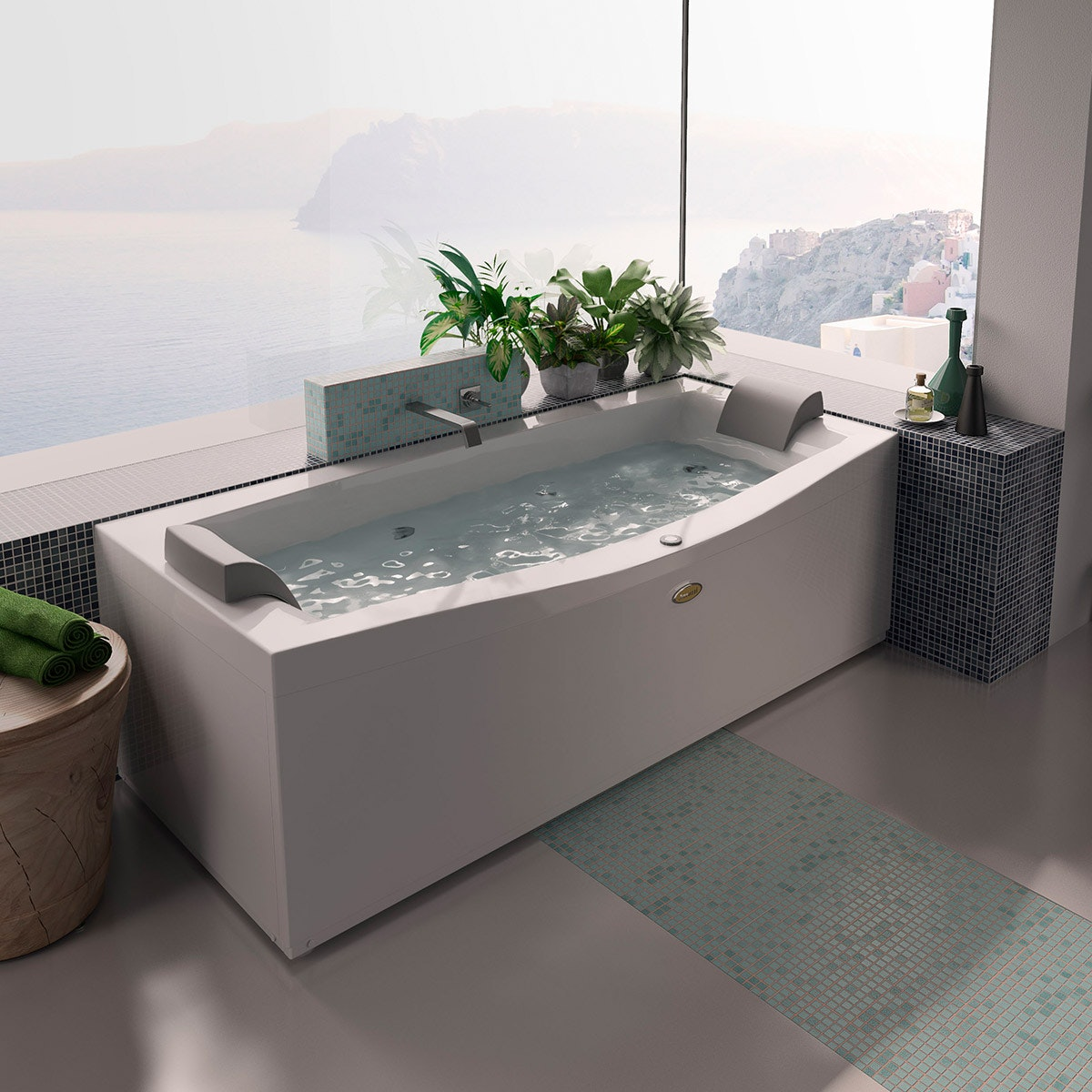 baignoire balnéo rectangulaire : notre top 5 - petite salle de bain