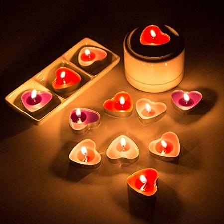 bougies-en-forme-de-coeur